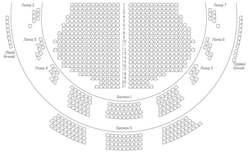 Схема залу Заньковецької